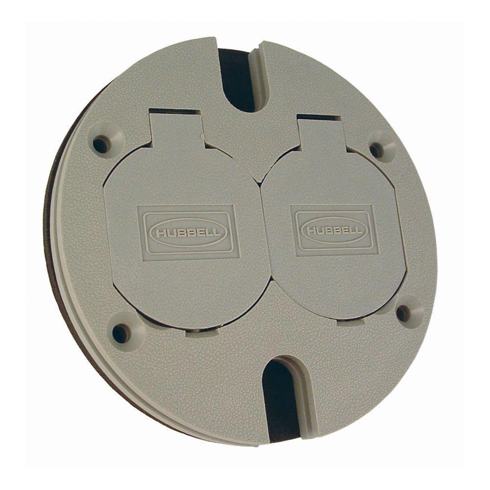 Round Floor Box Duplex Non-Metallic Cover with Lift Lids