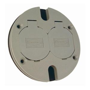 Raco Round Floor Box Cover Kit With 2 Lift Lids For Use With 5511