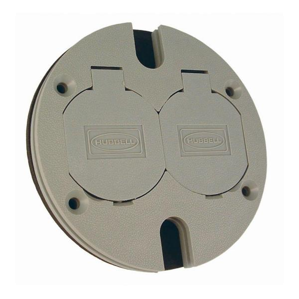 Round Floor Box Duplex Non-Metallic Cover with Lift Lids