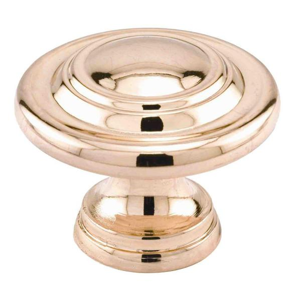1-11/16 in., Brass Plated, Bi-fold Door Pull Knob