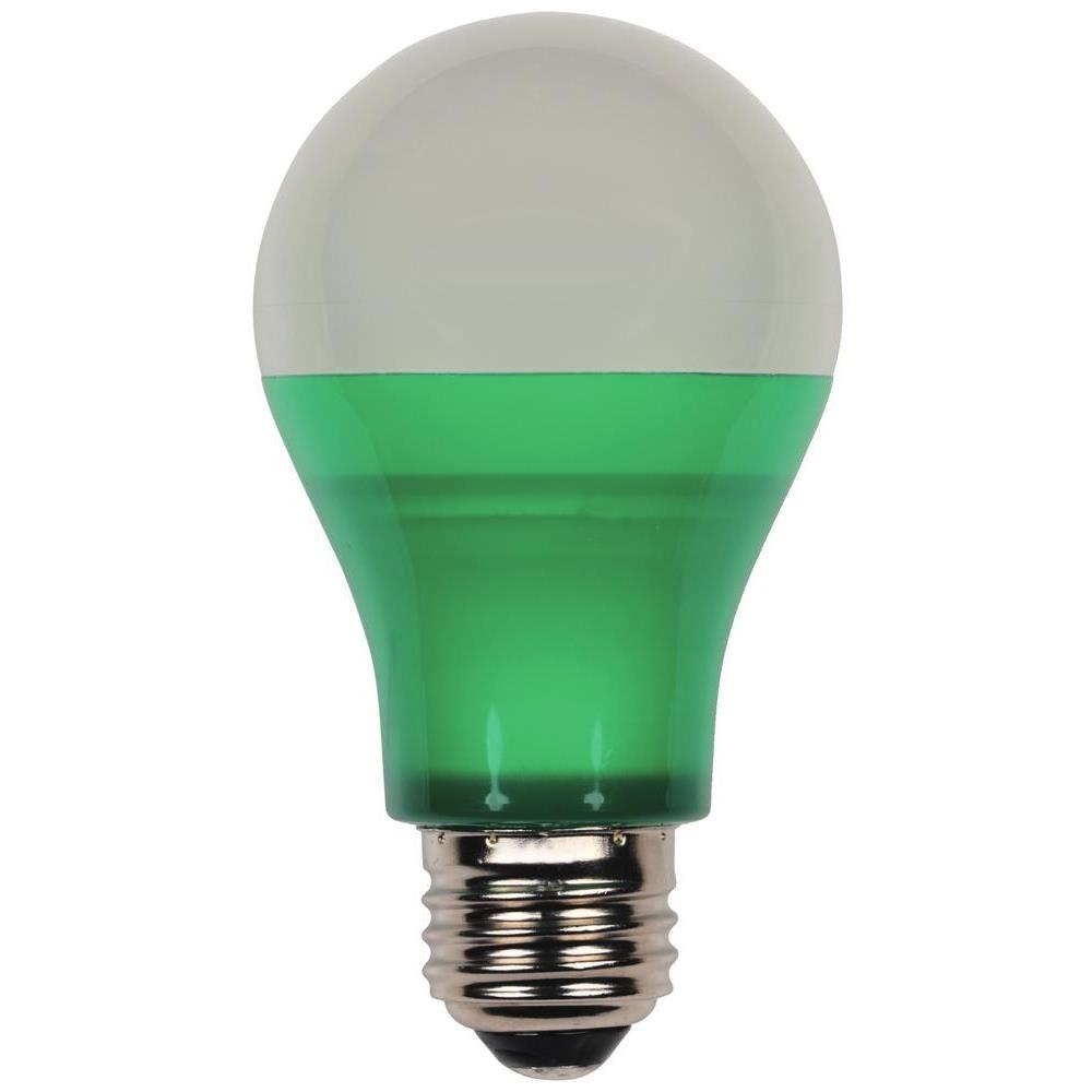 Outdoor led bulbs light bulbs the home depot 40 watt equivalent green omni a19 led party light bulb mozeypictures
