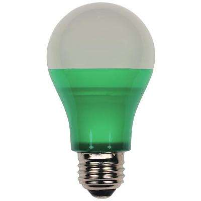 40-Watt Equivalent Green Omni A19 LED Party Light Bulb