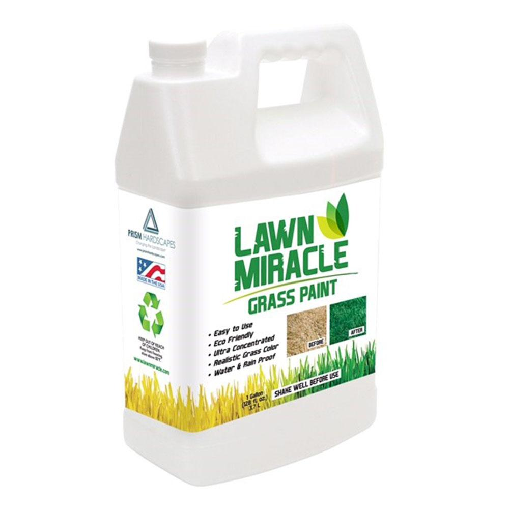 Lawn Miracle 1 Gal. Green Grass Paint Concentrate Covering Up to