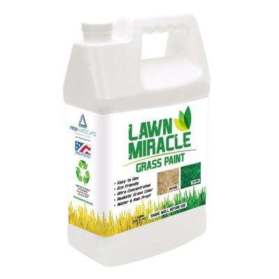 Lawn Miracle 1 Gal. Green Grass Paint Concentrate Covering Up to 2000 sq. ft.