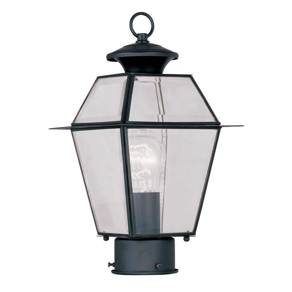 Livex Lighting Westover Outdoor Black Post Head Lantern