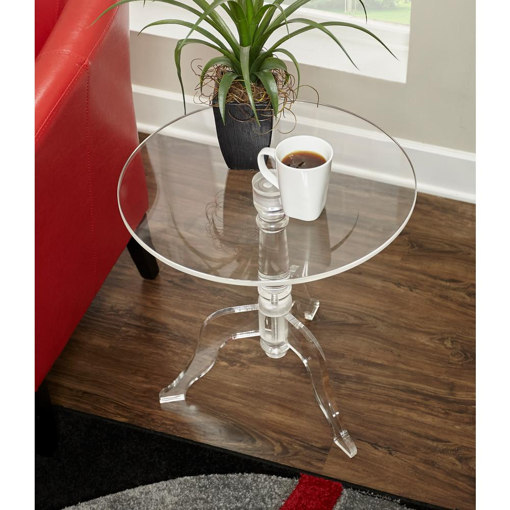 Delicieux Clear Acrylic End Table