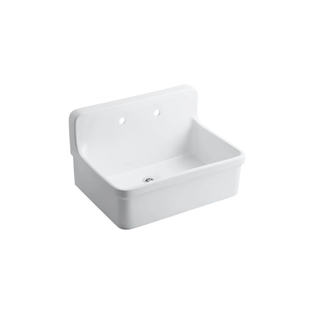 Vitreous China Utility Sink In White