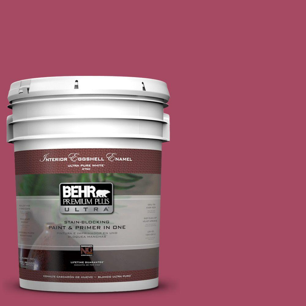 5 gal. #120D-5 Glazed Raspberry Eggshell Enamel Interior Paint and Primer