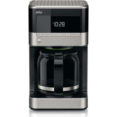 BrewSense 12-Cup Drip Coffee Maker with Brew Strength Selector in Stainless Steel and Black