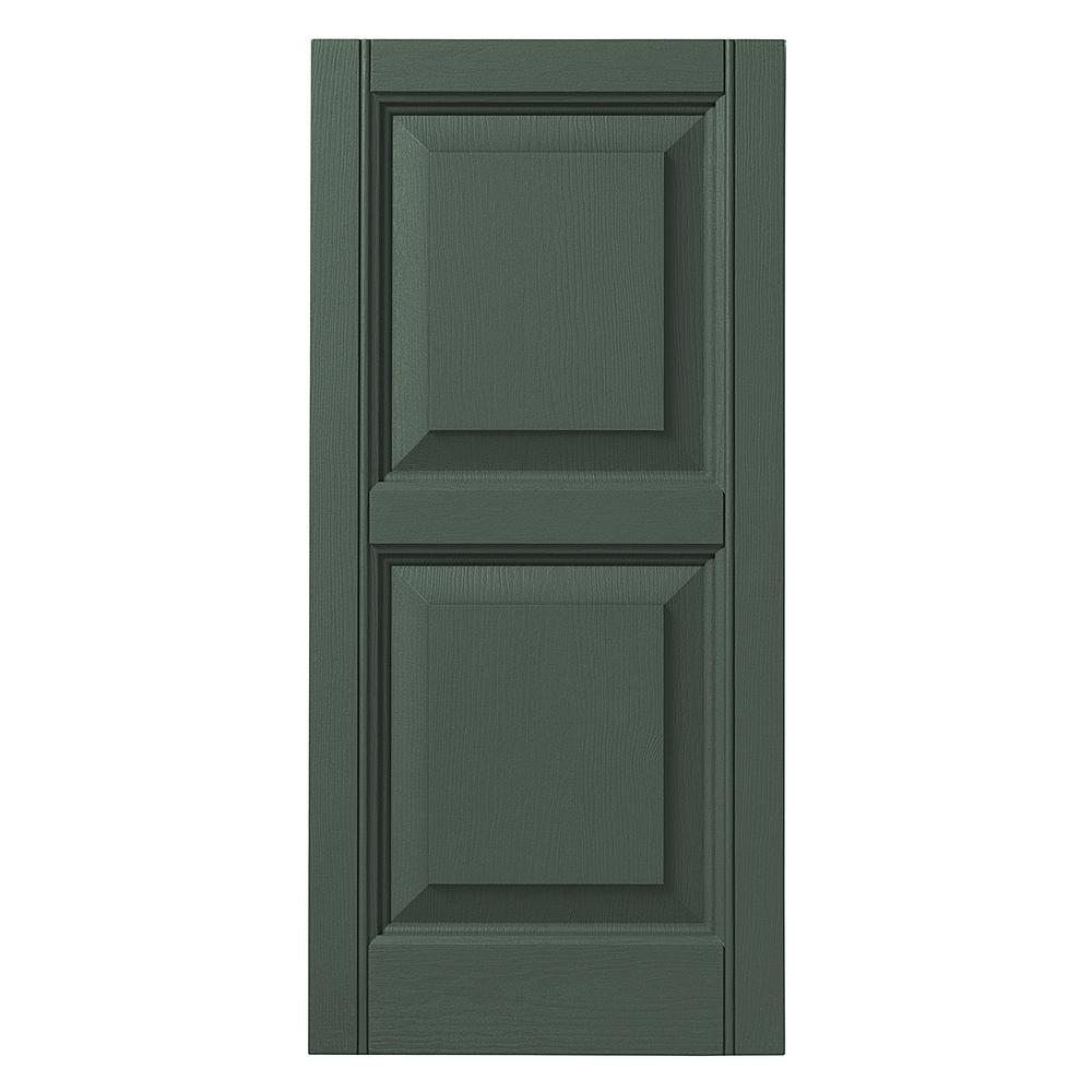 Blackwatch Green Ply Gem Shutters and Accents VINRP1535 99 Raised Panel Shutter 15