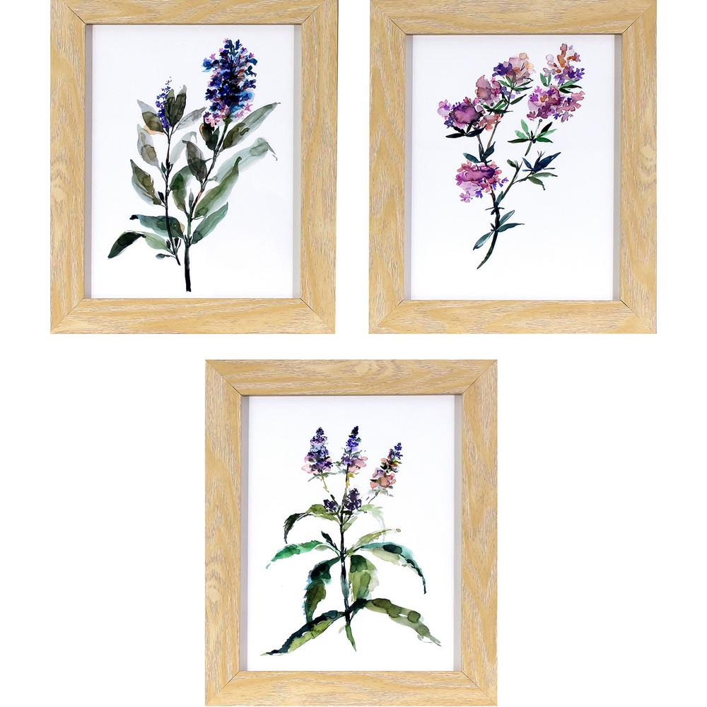 Decor therapy 12 in x 10 in lavender wildflowers printed framed lavender wildflowers printed framed wall art jeuxipadfo Gallery