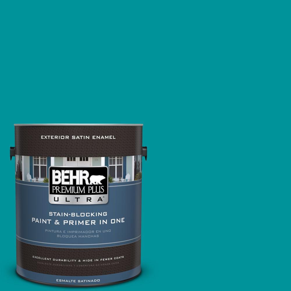 BEHR Premium Plus Ultra 1-gal. #500B-6 Peacock Feather Satin Enamel Exterior Paint