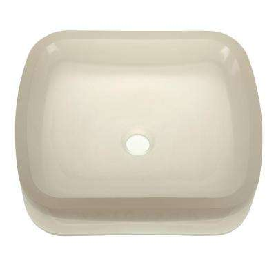 Incandescence Above-Counter Rectangular Resin Vessel Sink in Mist