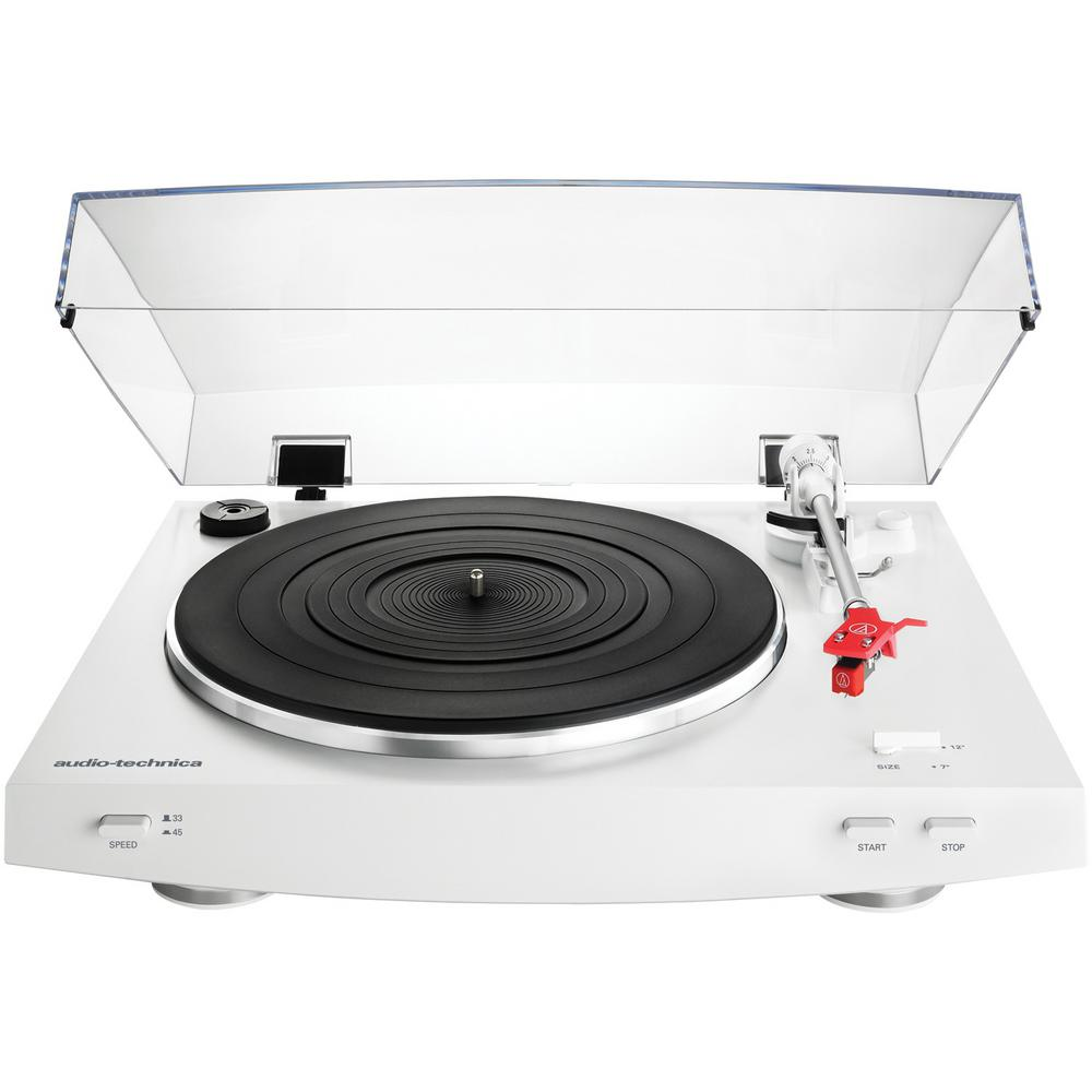 Audio Technica Fully Automatic Stereo Record Player Bluetooth Turntable White