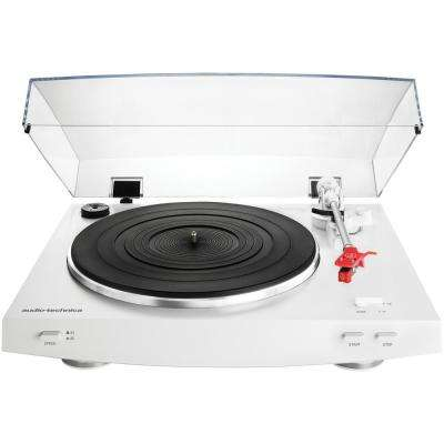 Fully Automatic Belt-Drive Stereo Turntable in White