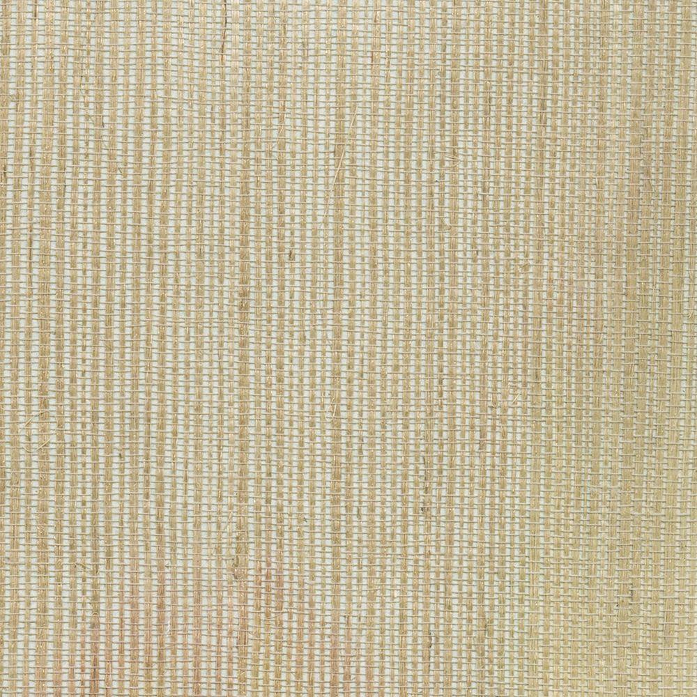 Ruslan Brown Grasscloth Wallpaper Sample