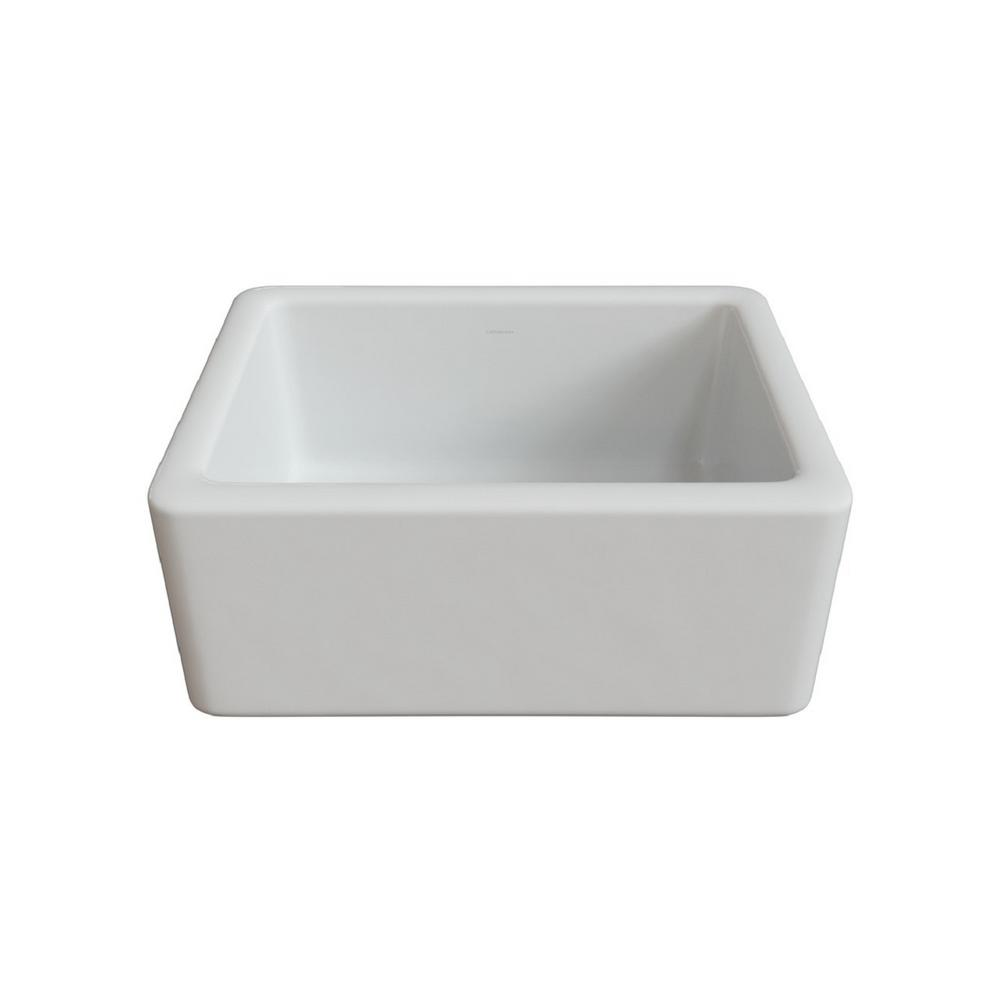 LaToscana Reversible Farmhouse/Apron Front Fireclay 24 In. Single Bowl  Kitchen Sink In