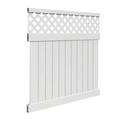 6 ft. H x 6 ft. W Valley White Vinyl Fence Panel Kit