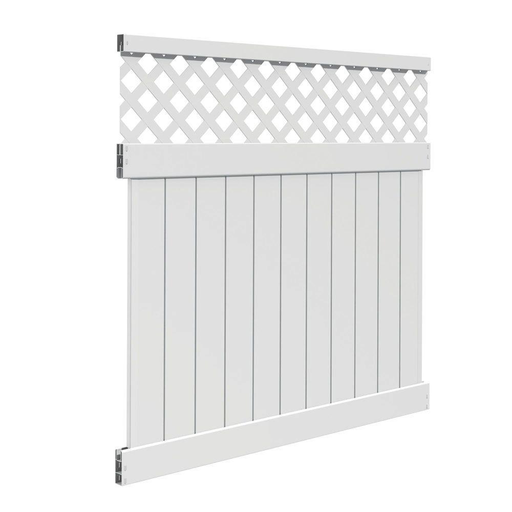 6 ft. H x 6 ft. W Valley White Vinyl Fence Panel Kit