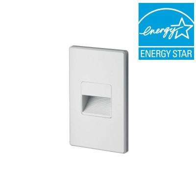 1.875 in. White Recessed LED Cutoff Mini Step Light with 3000K