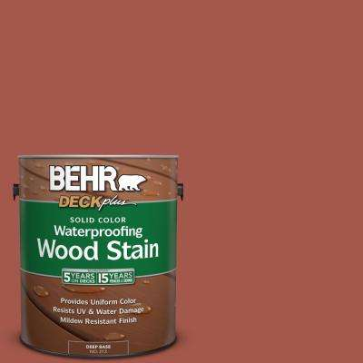1 gal. #PPU2-15 Cajun Red Solid Color Waterproofing Wood Stain
