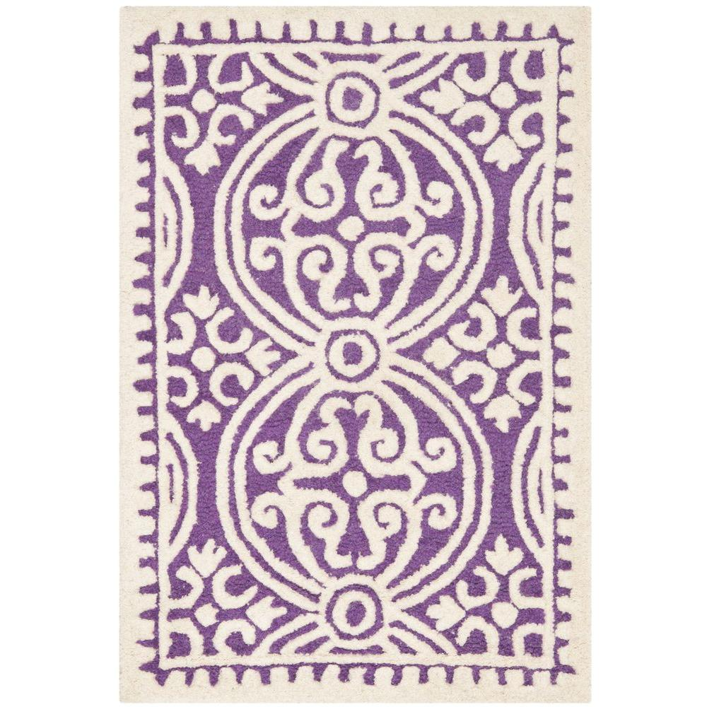 Safavieh Cambridge Purple/Ivory 3 ft. x 5 ft. Area Rug