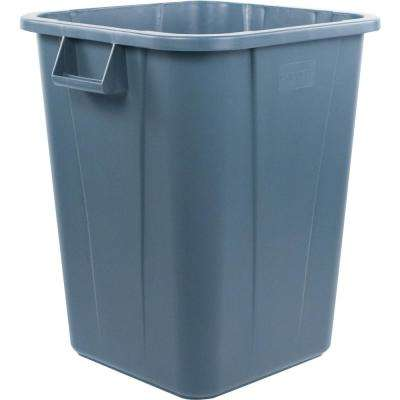 Bronco 40 Gal. Gray Square Trash Can (4-Pack)