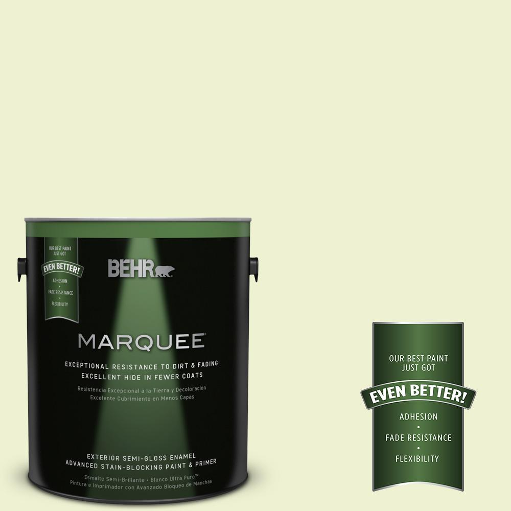 BEHR MARQUEE 1-gal. #420A-1 Green Shimmer Semi-Gloss Enamel Exterior Paint