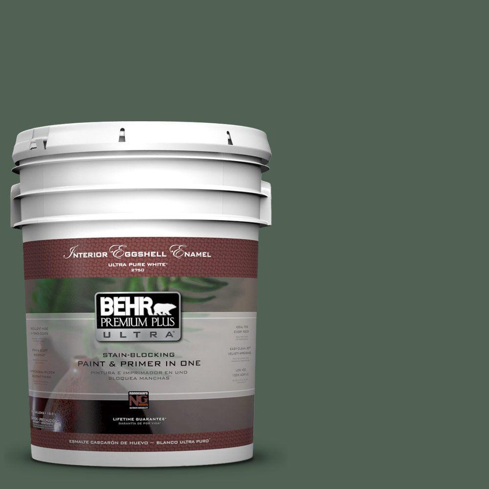 5-gal. #BXC-60 Pasture Green Eggshell Enamel Interior Paint