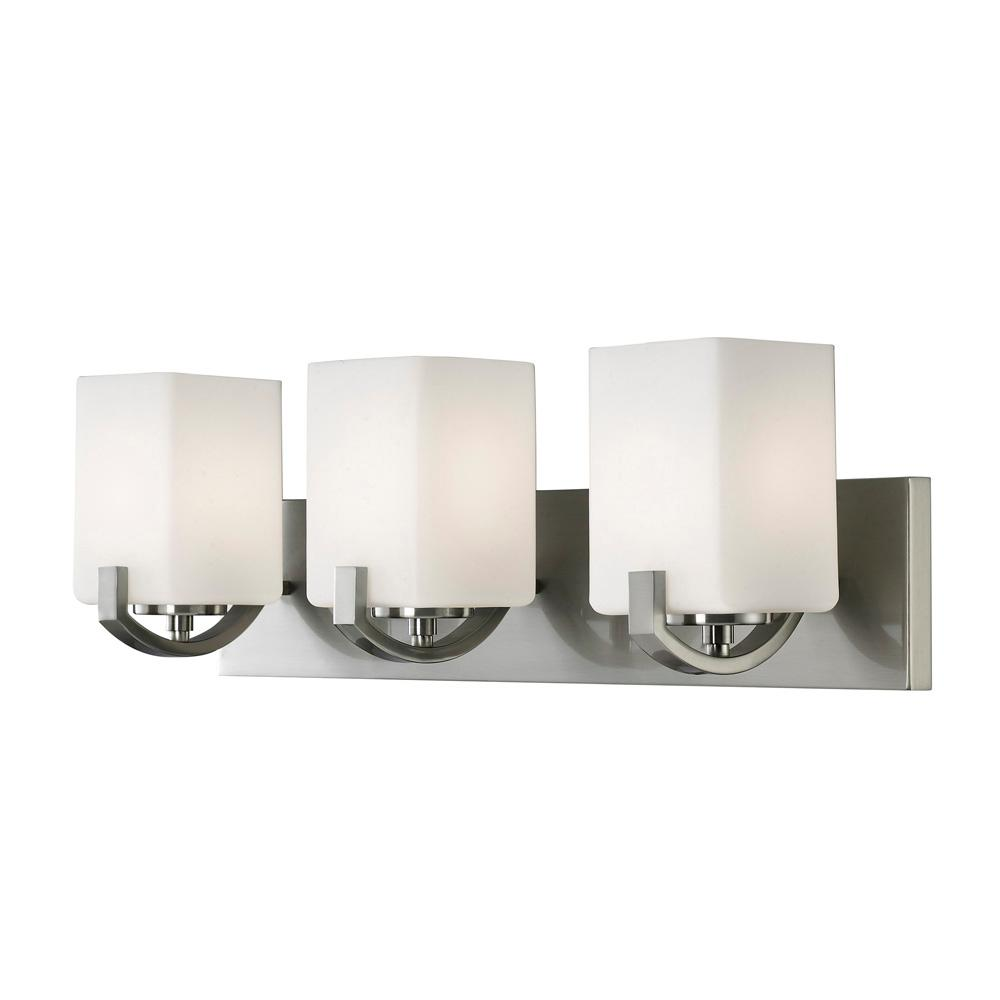 bathroom vanity lighting pictures canarm palmer 3 light brushed nickel bath light 17008
