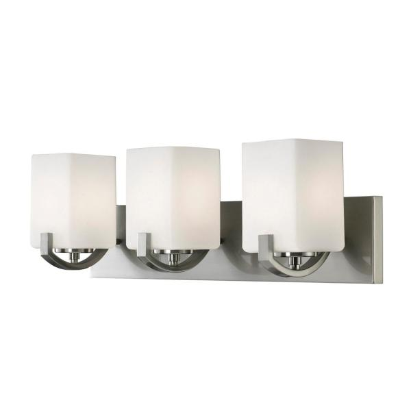 Palmer 3-Light Brushed Nickel Bath Light