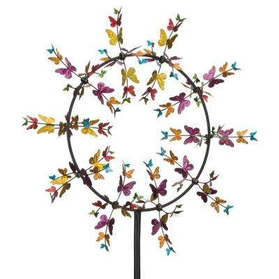 32 in. Vortex Kinetic Stake - Butterflies