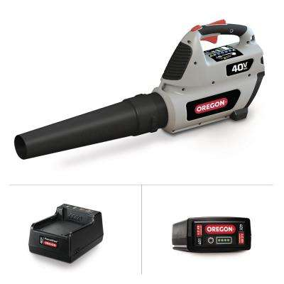 131 MPH 507 CFM Variable-Speed Turbo 40-Volt Lithium-Ion Cordless Blower - 4.0Ah Battery and Charger included