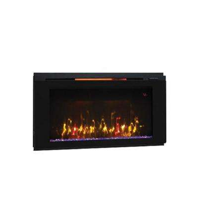 Helen 36 in. Wall-Mount Electric Fireplace in Black