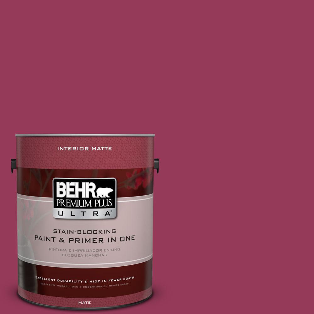 1 gal. #110B-7 Raspberry Pudding Flat/Matte Interior Paint