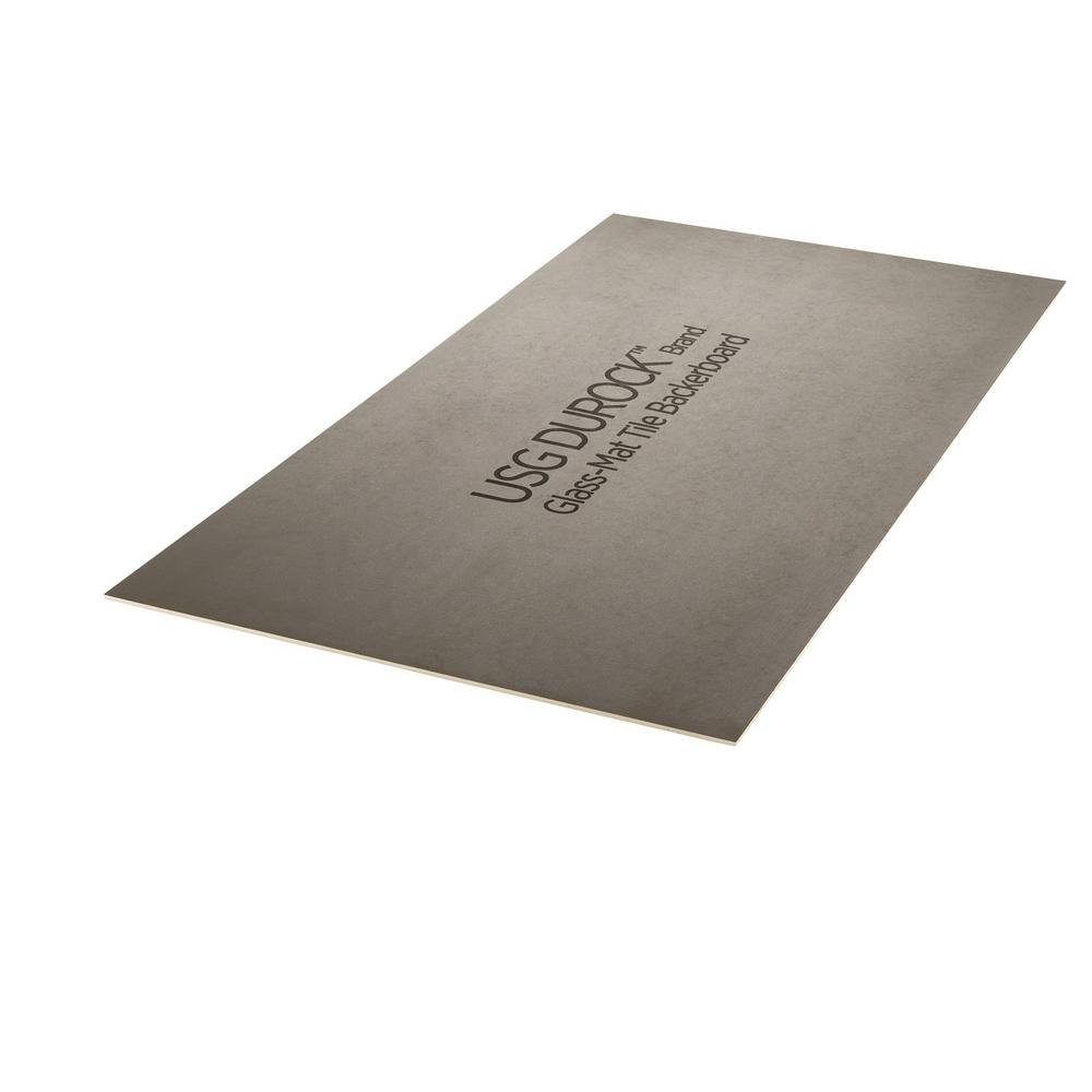 1/2 in. x 48 in. x 8 ft. Glass-Mat Tile Backer