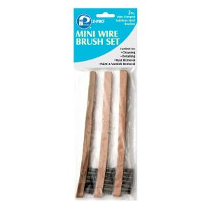 PREMIER 3-Piece Stainless Steel Mini Wire Brush Set (12-Pack) by PREMIER