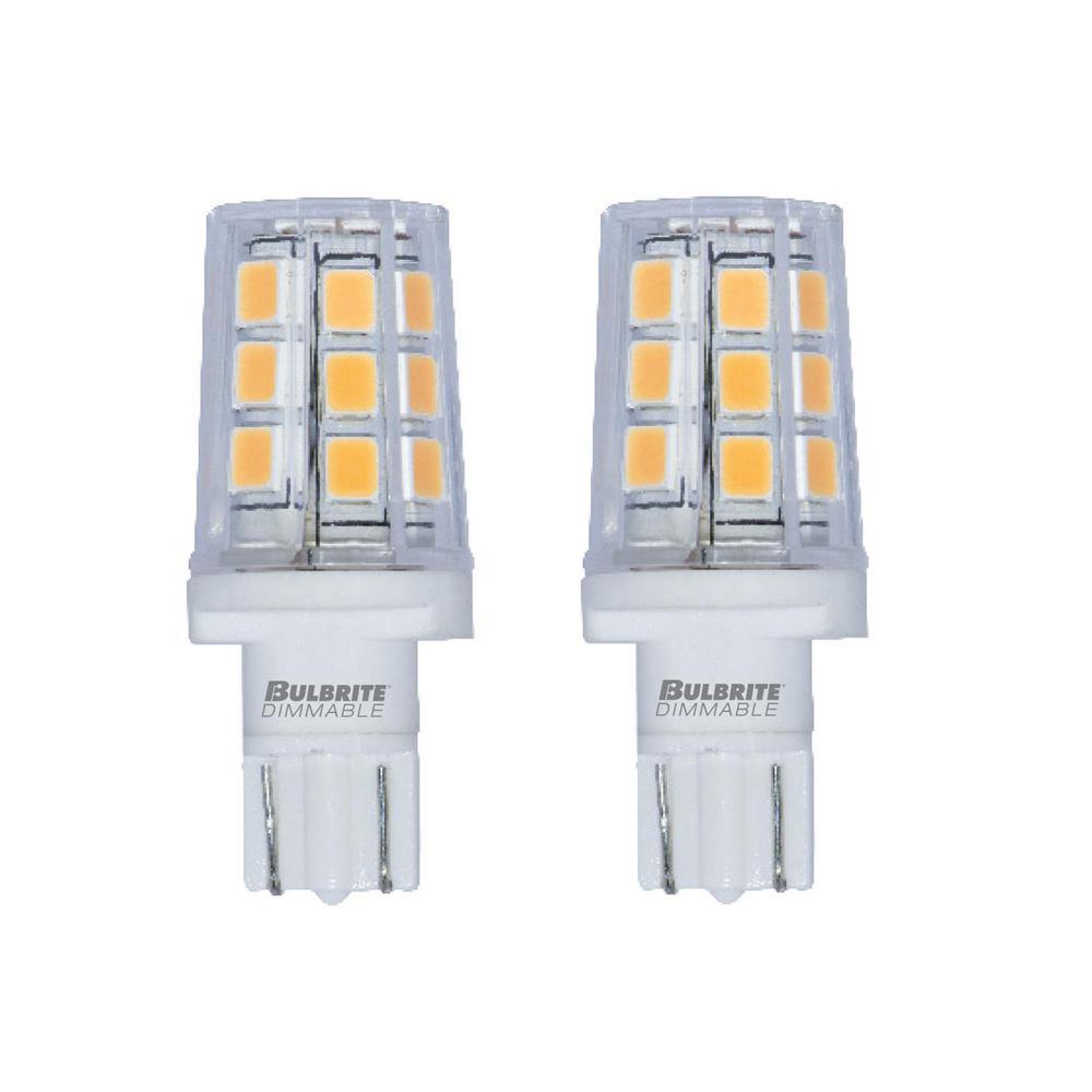 15-Watt Equivalent T3 Non-Dimmable Wedge LED Light Bulb Warm White Light (2-Pack)