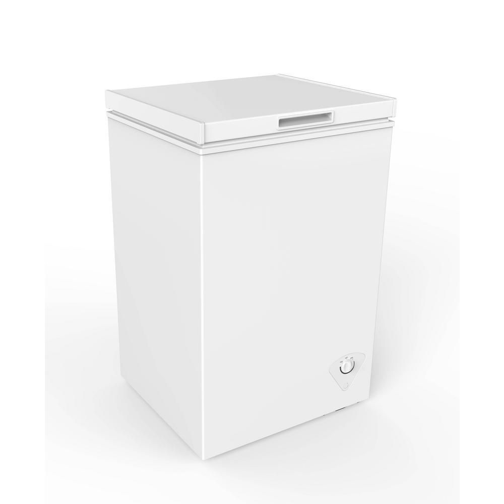 Magic Chef 3 5 Cu Ft Chest Freezer In White Hmcf35w4 The Home Depot