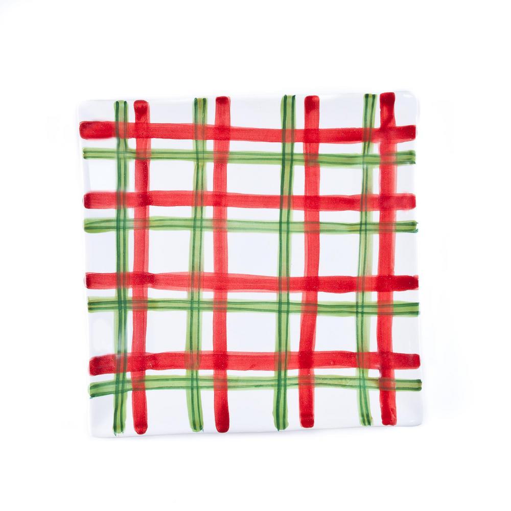 Tartan Twist Red/White/Green Salad Plate (Set of 4)