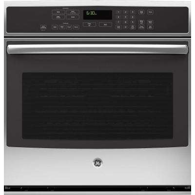 30 in. Single Electric Wall Oven Self-Cleaning with Steam Plus Convection in Stainless Steel