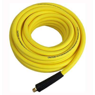 Hybrid Polymer 3/8 in. x 25 ft. Air Hose All Weather Lightweight No-Memory Non-Kinking 300 PSI Maximum