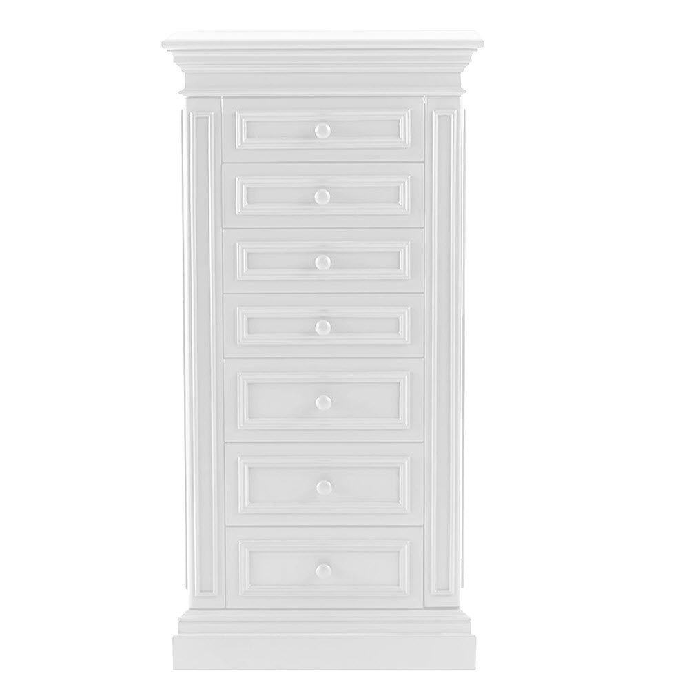 Delicieux Sheridan 7 Drawer Jewelry Armoire In White