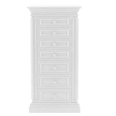 Sheridan 7-Drawer Jewelry Armoire in White