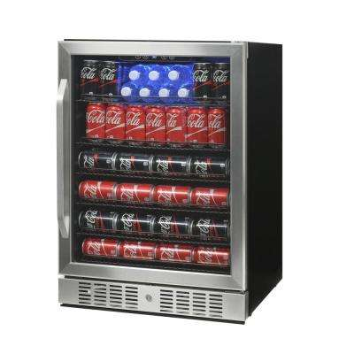 23.4 in. 92-Bottle Wine and 177-Can Built In Beverage Cooler