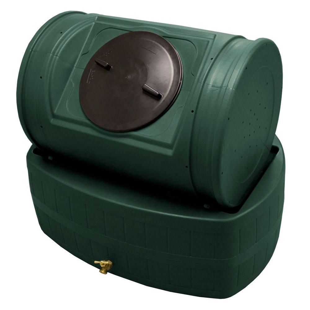 Good Ideas EZ Wizard 52 gal. 7.0 cu. ft. Hybrid Composter with Rain Barrel