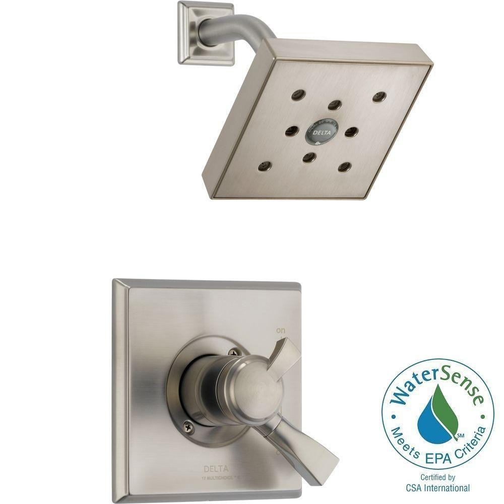 Delta Dryden 1-Handle H2Okinetic Shower Only Faucet Trim Kit in Stainless (Valve Not Included)