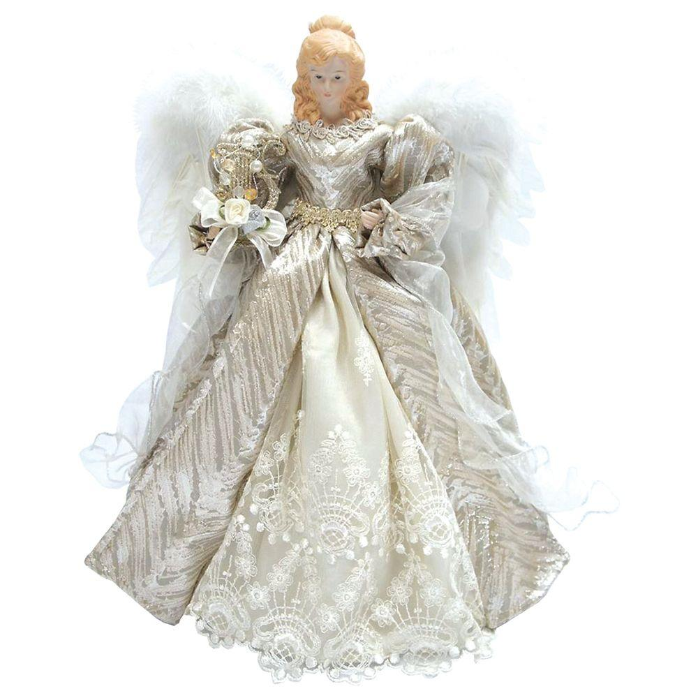 Christmas Tree Angel Tree Topper: Santa's Workshop 16 In. Angel Tree Topper Silver Elegance