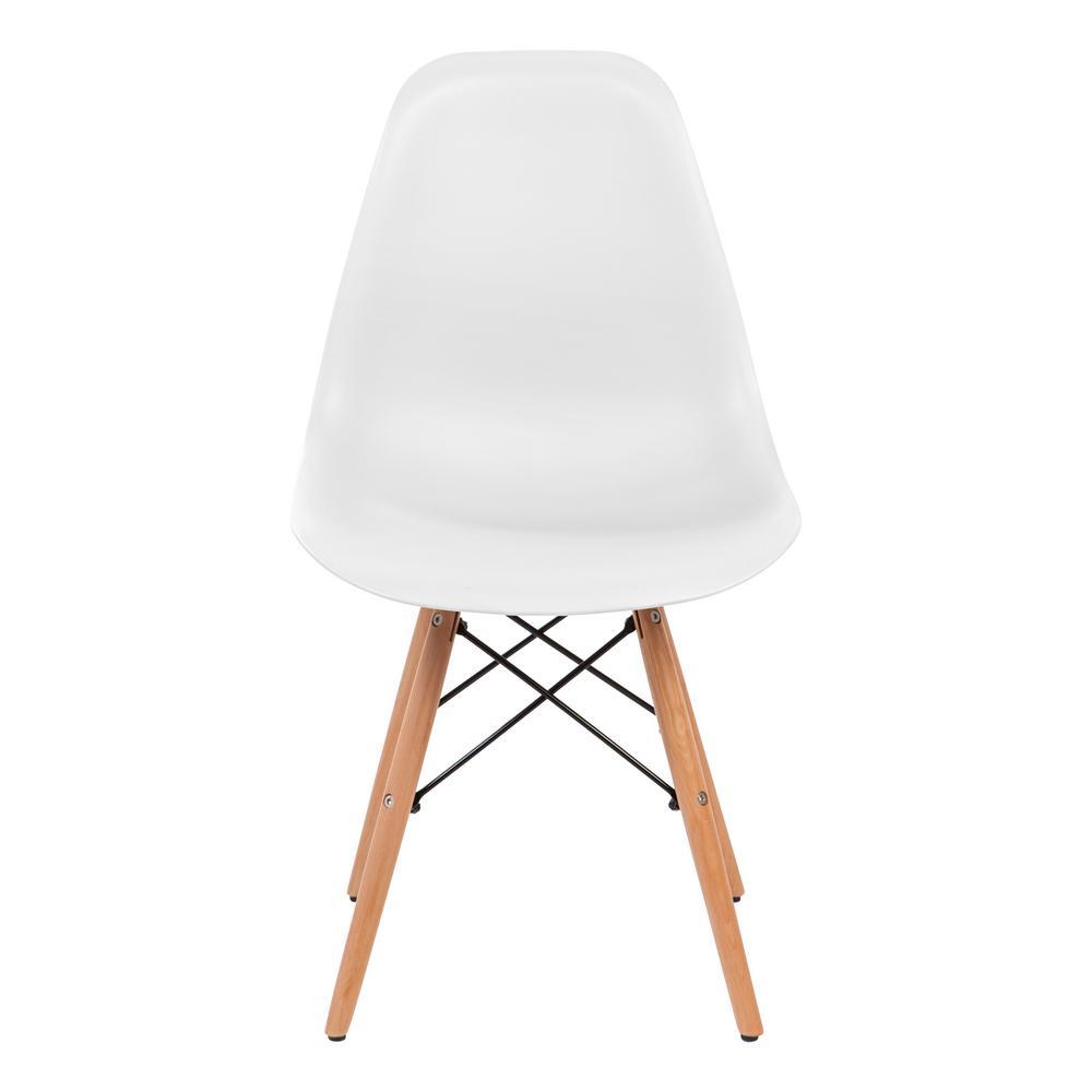 White Plastic Shell Chair (Set of 2)