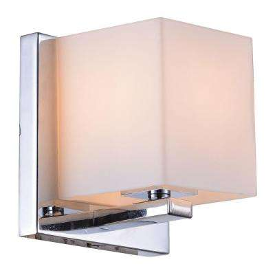 Trinket Collection 1-Light Chrome Wall Vanity Light